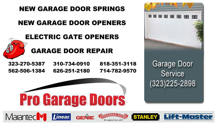 NEW GARAGE DOOR SPRINGS Fullerton